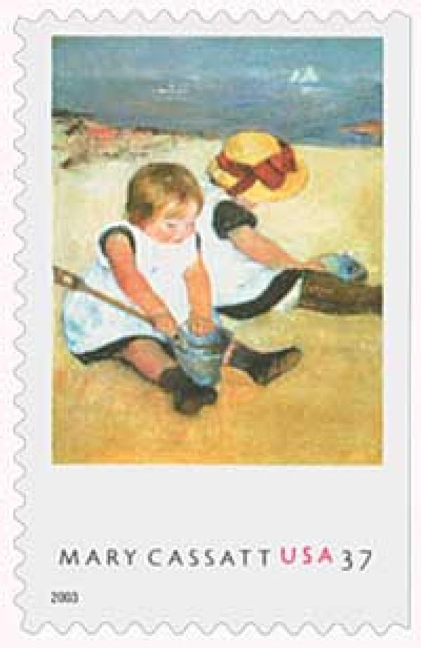 "2003 37c Mary Casatt Paintings: ""Children Playing on the Beach"