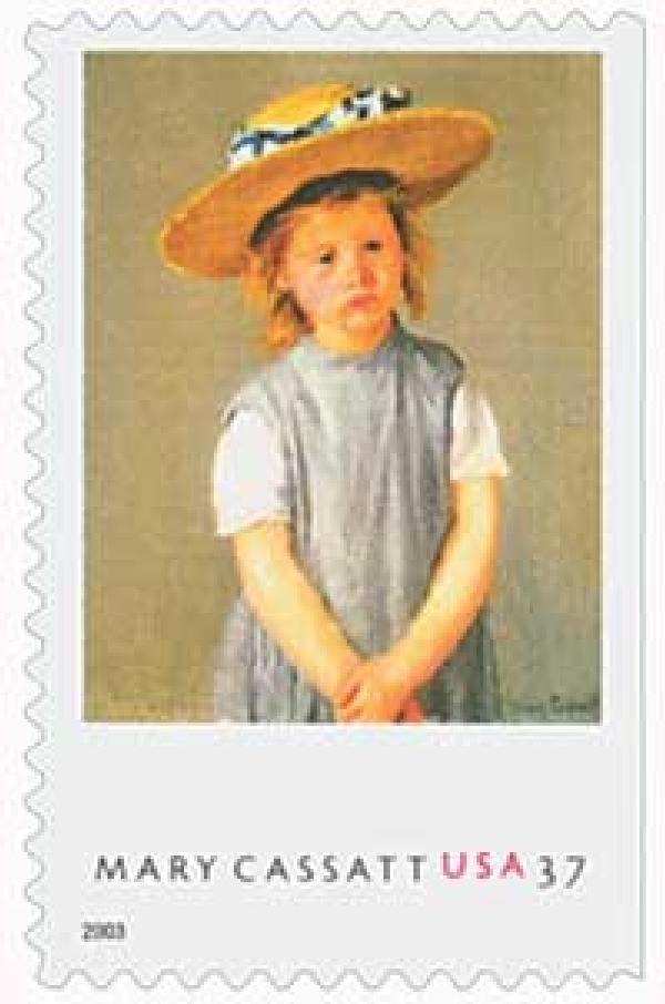 "2003 37c Mary Casatt Paintings: ""Child in a Straw Hat"""