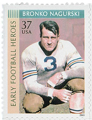 2003 37c Early Football Heroes: Bronko Nagurski