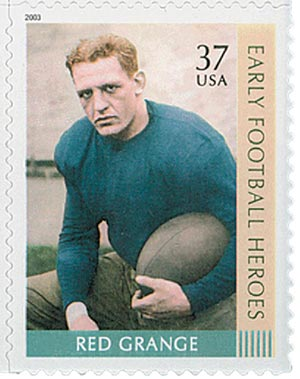 2003 37c Early Football Heroes: Red Grange