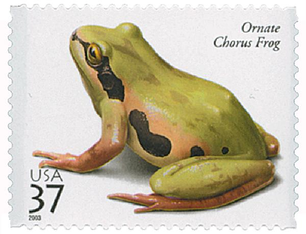 2003 37c Reptiles and Amphibians: Ornate Chorus Frog