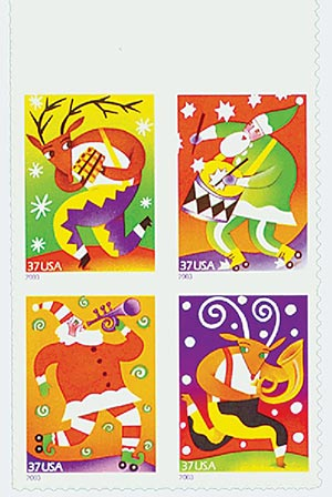 2003 37c Holiday Music Makers, block/4