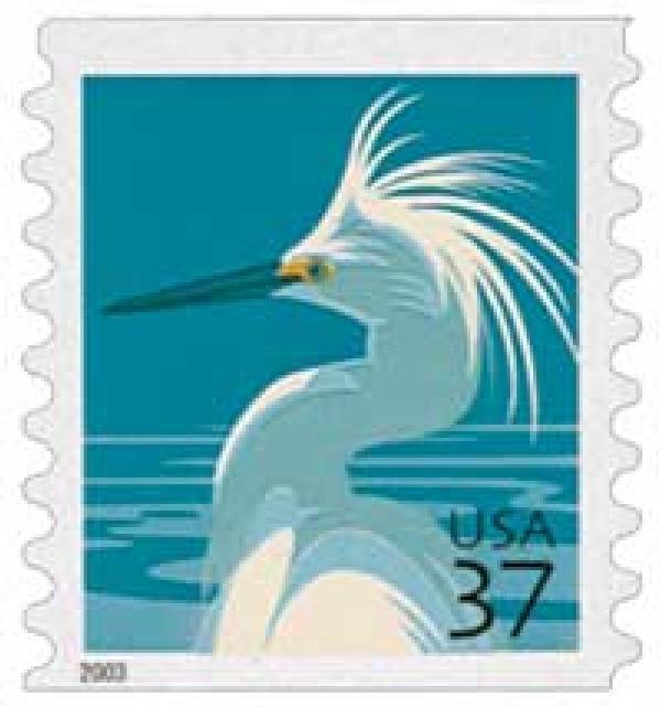 2003 37c Snowy Egret, coil