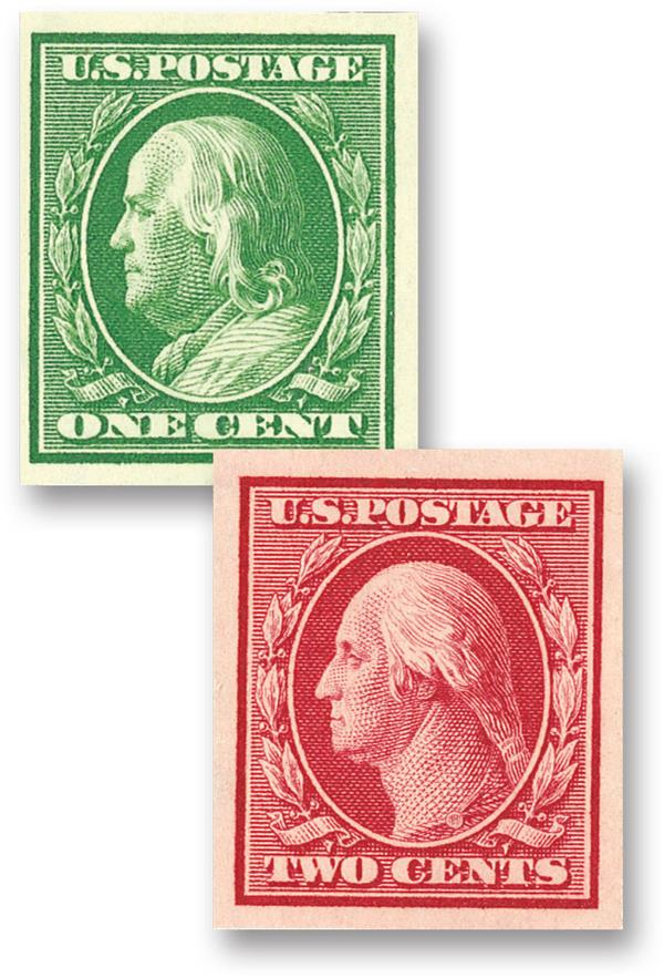 Complete Set, 1910 Imperforates