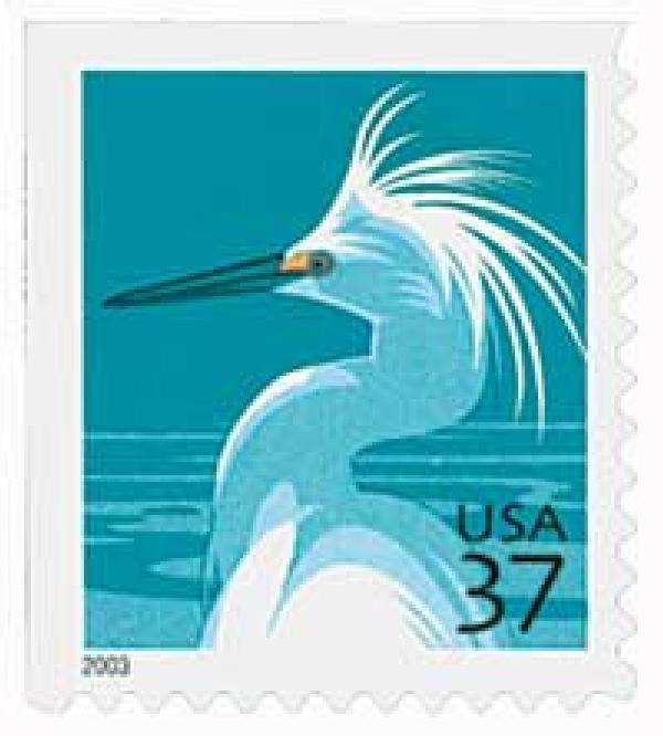 2004 37c Snowy Egret