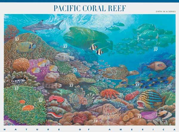 2004 37c Nature of America: Pacific Coral Reef