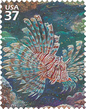 2004 37c Pacific Coral Reef: Lionfish