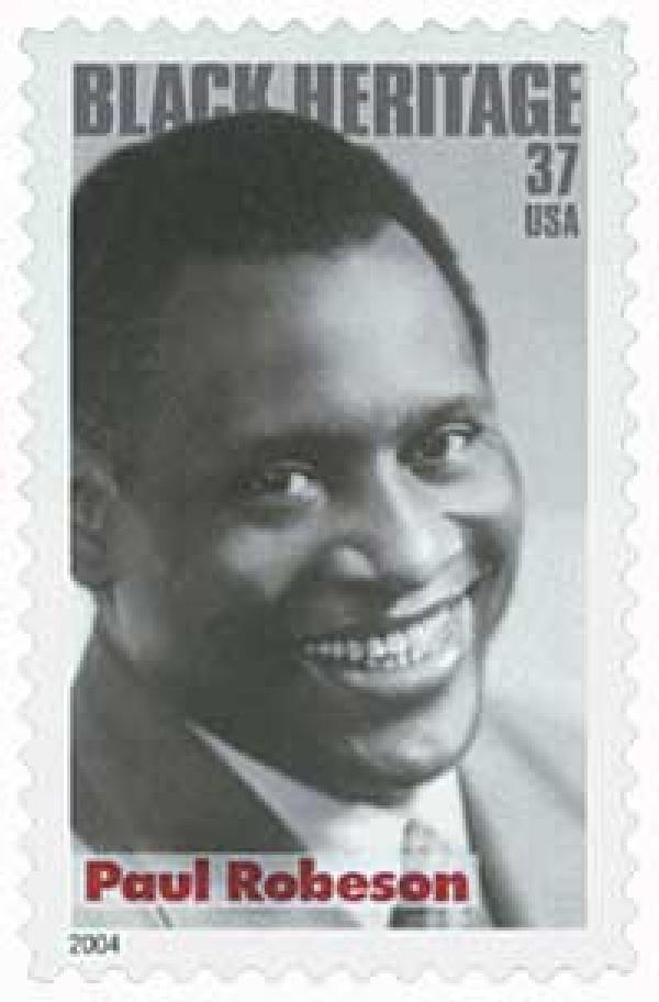 2004 37c Black Heritage: Paul Robeson