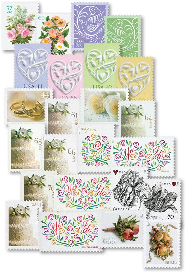 2004-17 Wedding Series, set of 24 stamps