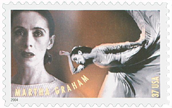 2004 37c American Choreographers: Martha Graham