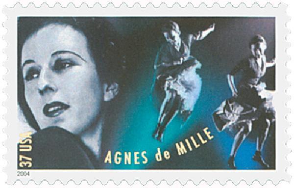 2004 37c American Choreographers: Agnes de Mille