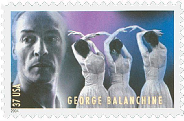 2004 37c American Choreographers: George Balanchine