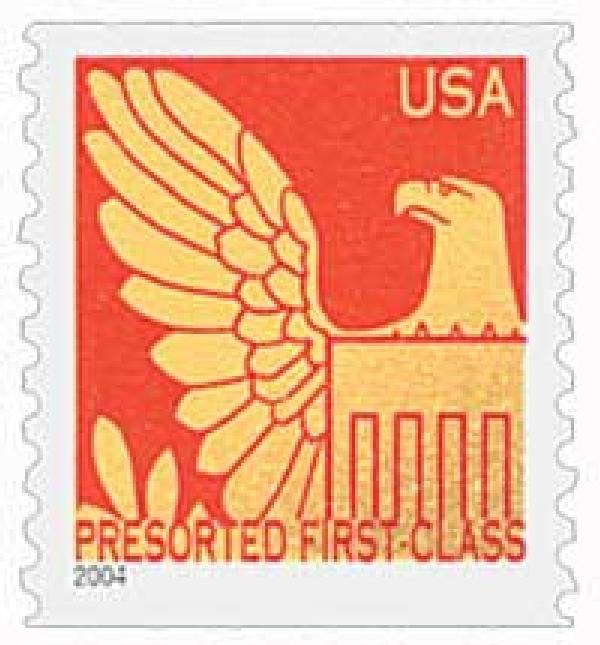 2004 25c Gold Eagle with Red Background
