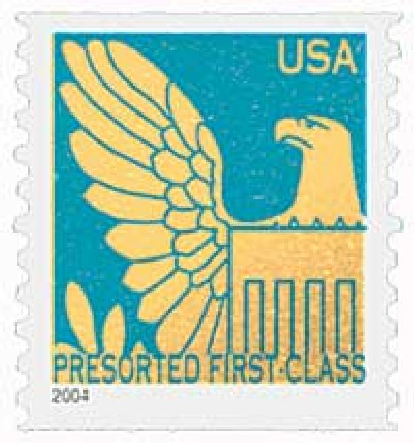 2004 25c Gold Eagle with Prussian Blue Background