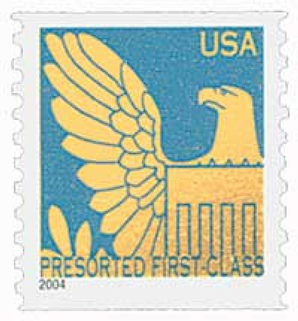 2004 25c Gold Eagle with Dull Blue Background