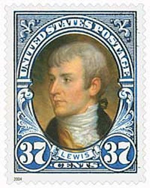 2004 37c Lewis, booklet single