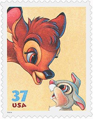 2004 37c Bambi & Thumper