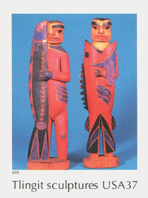 2004 37c Art of the American Indian: Tlingit Sculptures