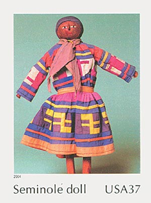 2004 37c Art of the American Indian: Seminole Doll