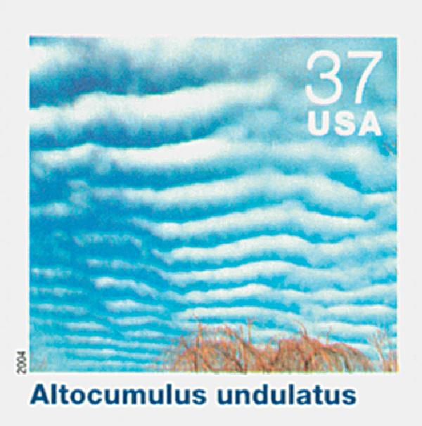 2004 37c Cloudscapes: Altocumulus Undulatus
