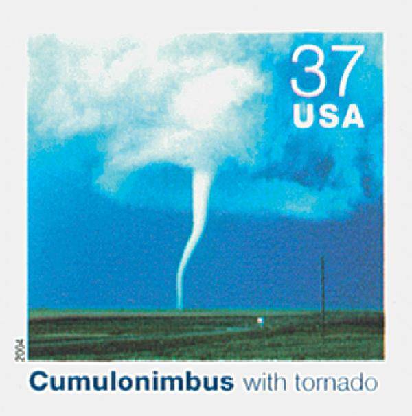 2004 37c Cloudscapes: Cumulonimbus with Tornado