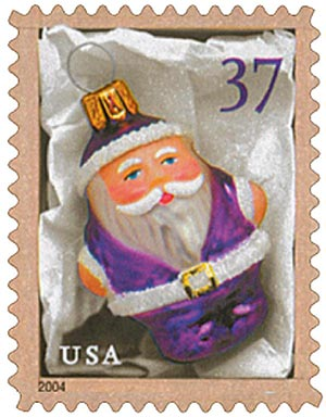2004 37c Contemporary Christmas: Purple Santa Ornament