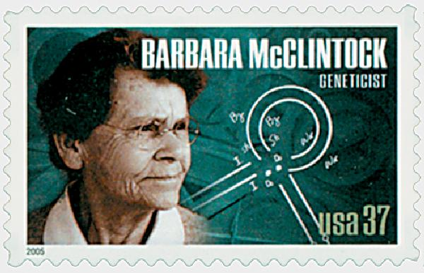 2005 37c American Scientist: Barbara McClintock