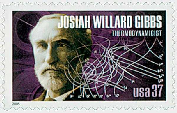 2005 37c American Scientist: Josiah Willard Gibbs