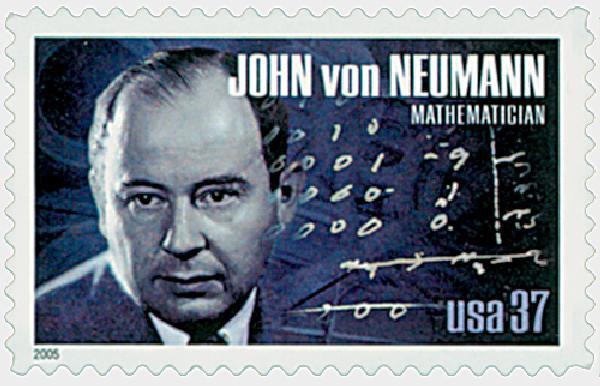2005 37c American Scientist: John von Neumann