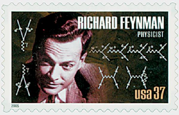 2005 37c American Scientist: Richard Feynman