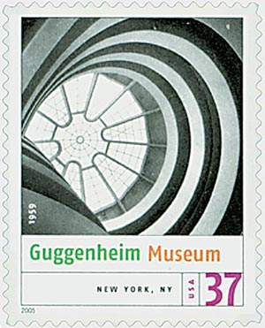 2005 37c Modern American Architecture: Guggenheim Museum