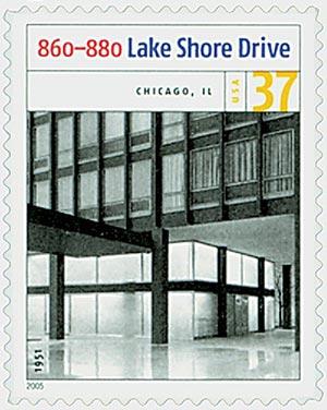 2005 37c Modern American Architecture: 860-880 Lake Shore Drive