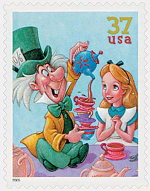 2005 37c The Art of Disney: The Mad Hatter and Alice