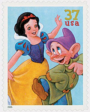 2005 37c The Art of Disney: Snow White and Dopey