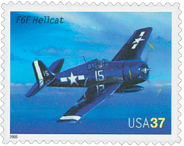 2005 37c Advances in Aviation: Grumman F6F Hellcat