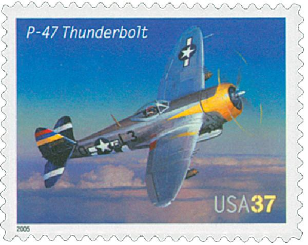 2005 37c Advances in Aviation: Republic P-47 Thunderbolt
