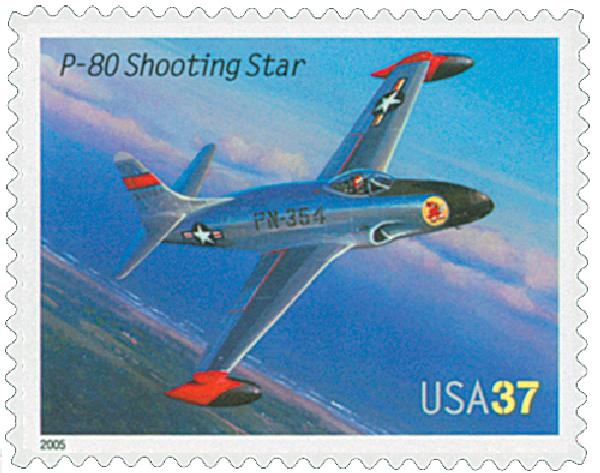 2005 37c Advances in Aviation: Lockheed P-80 Shooting Star