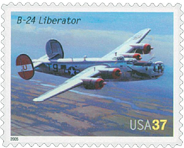 2005 37c Advances in Aviation: Consolidated B-24 Liberator