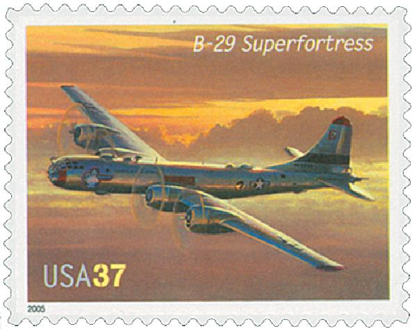 2005 37c Advances in Aviation: Boeing B-29 Superfortress