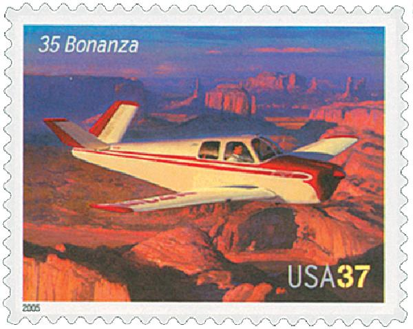 2005 37c Advances in Aviation: Beechcraft 35 Bonanza