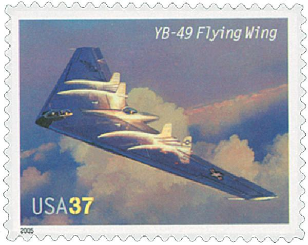 2005 37c Advances in Aviation: Northrop YB-49 Flying Wing