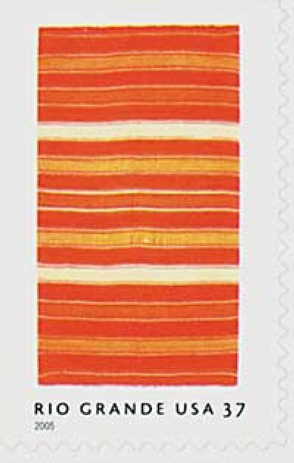 2005 37c Rio Grande Blankets: Yellow, Orange and Red Stripes