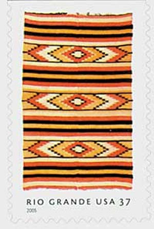 2005 37c Rio Grande Blankets: Chevrons and Stripes