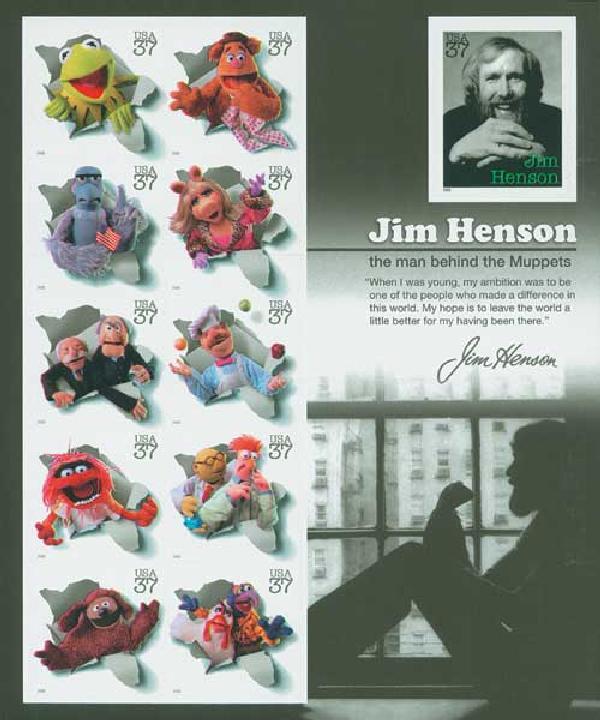2005 37c Jim Henson & Muppets