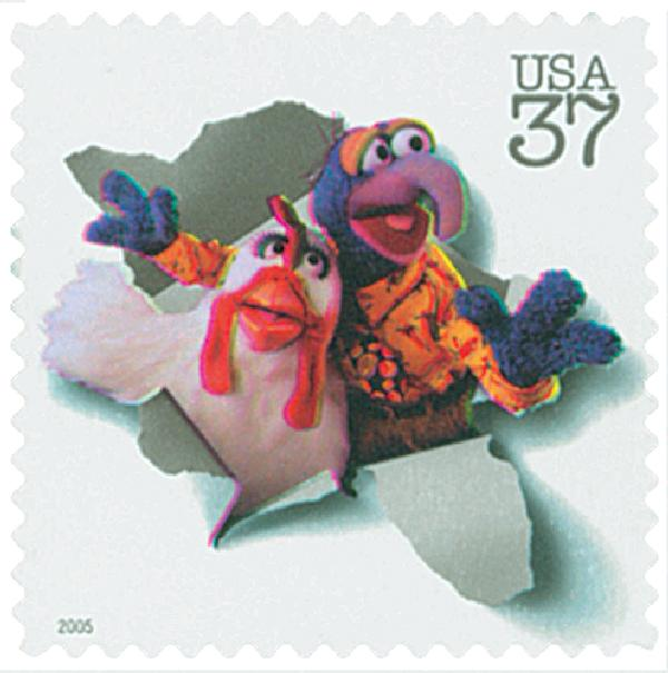 2005 37c Jim Henson: Gonzo and Camilla the Chicken