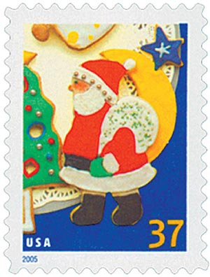 2005 37c Holiday Cookies: Santa Claus