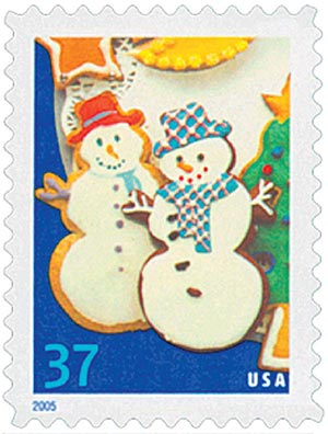 2005 37c Holiday Cookies: Snowmen