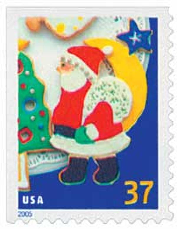 2005 37c Holiday Cookies: Santa Claus, booklet single