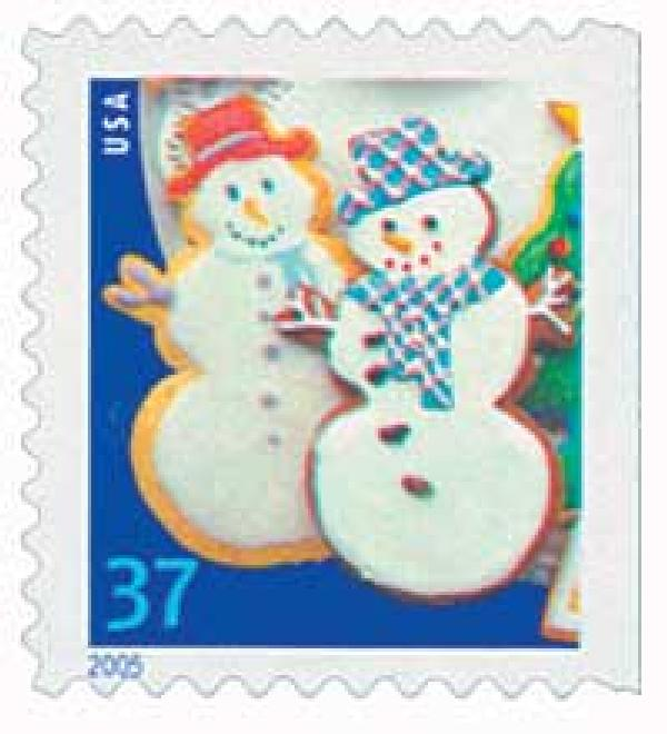 2005 37c Holiday Cookies: Snowmen, vending booklet