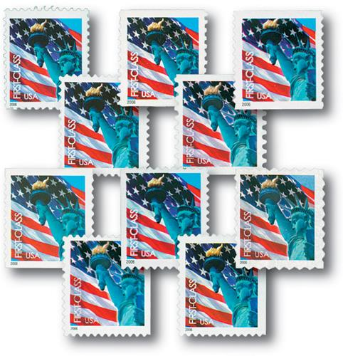 2005 Lady Liberty and Flag, collection of 10 stamps